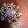 HollyCraft Opal brooch