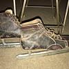 Union hardware co. Vintage Men's 11.5 ice skates. Victory label marked Joseph T. Wood co.