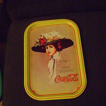 1971 Coca Cola Hamilton King Reproduction Tray-fake or real?????? - Coca-Cola