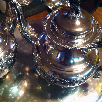 1950's German Sterling silver 5 Pc Tea/Coffee Service - Sterling Silver