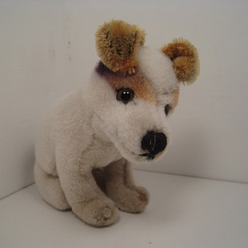Sweet Steiff RCA &quot;His Master&#039;s Voice&quot; Fox Terrier  - Dolls
