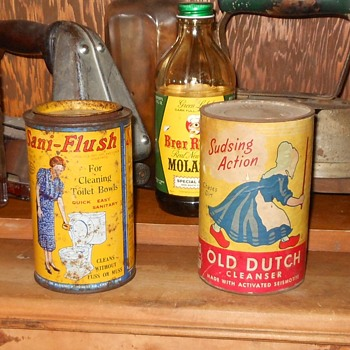 Vintage Cleansers Sani-Flush and Dutch Ceanser - Kitchen