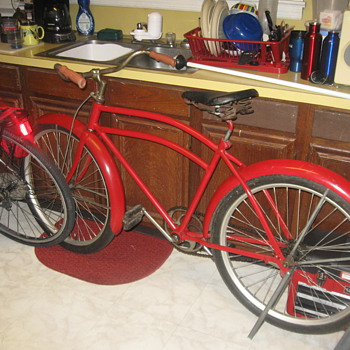 1938 all american  pre war ww2 i think  very very cool and its red - Outdoor Sports