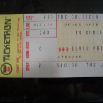 Elvis Ticket Stub 1975 - Music