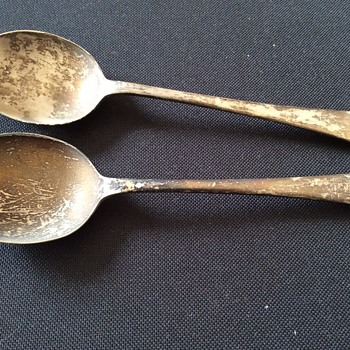 Old spoons  - Silver
