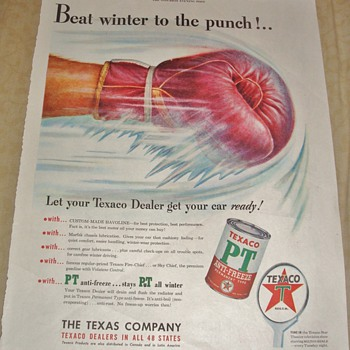 "Texaco ""Beat winter to the punch!..."" Magazine Ad - Advertising"