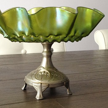 Beautiful Compote - Art Glass