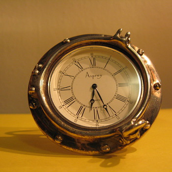 ASPREY &amp; CO STERLING SILVER CLOCK 