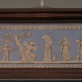 Framed Wedgwood Light Blue & White Jasperware Plaque - China and Dinnerware