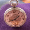 14K White Gold Elgin Pocket Watch