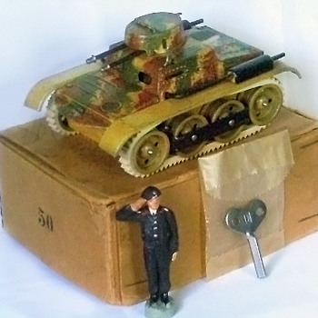 Gescha panzer tank, pre WWII Germany. Tin wind up.  - Model Cars