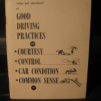 1949 Good Driving Practices - Paper