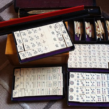 Very old ivory Chinese Mahjong game