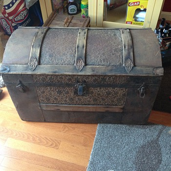 Embossed Tin Trunk  - Furniture
