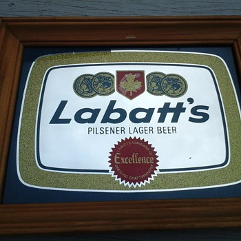 Labatt's Bar Mirror  - Advertising