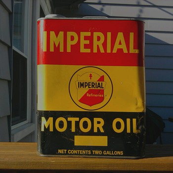 Imperial Motor Oil can - Petroliana