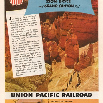 1952 - Union Pacific Railroad Advertisements - Advertising