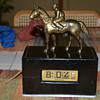 Tele-Vision/Pennwood Wooden Black Horse and Jockey Clock, 1945-55