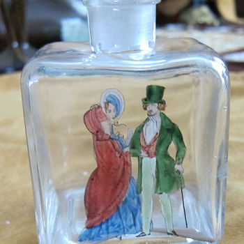 Small Austria marked bottle - Painted - Bottles