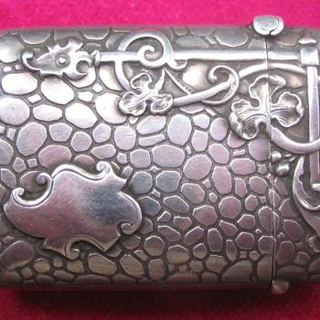 Art nouveau vesta case - Sterling Silver