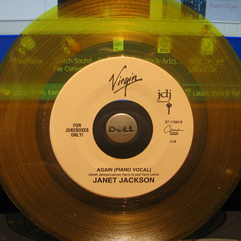 Janet Jackson 45rpm on Clear Yellow vinyl
