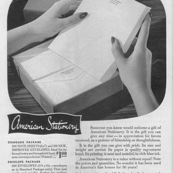 1952 - American Stationary Advertisements - Advertising
