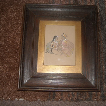 15th Century Indian school erotic scence - in gouache - Asian