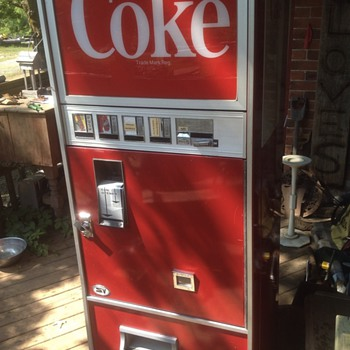 Vintage coke machine!