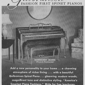 1950 Gulbransen Piano Advertisement - Advertising