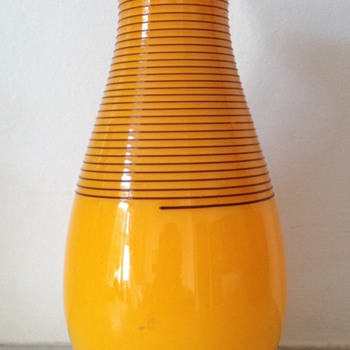 Trailed tango vase - Welz? - Art Glass