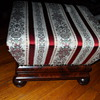 19th CENTURY MAHOGANY UPHOLSTERED BOX STOOL