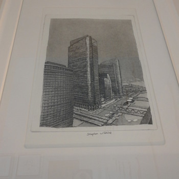 Stephen wiltshire - Etching of Canary Wharf  - Posters and Prints