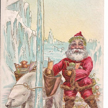 Santa & Polar Bear  - Postcards