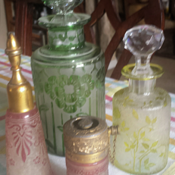Cameo glass perfume bottles - Art Glass