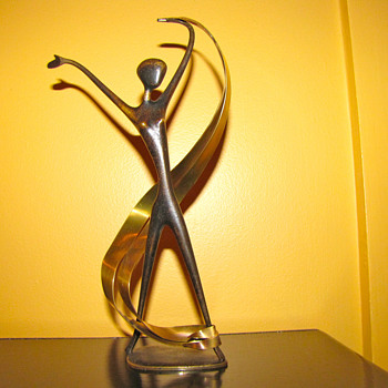 RARE ART DECO  FRANZ HAGENAUER RIBBON DANCER - Art Deco