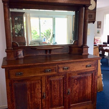 Mirrored Sideboard - late Nineteenth Century I think