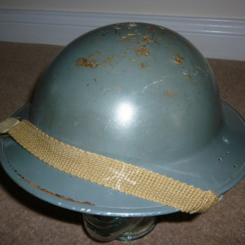 WW11 British Civil Defence steel helmet