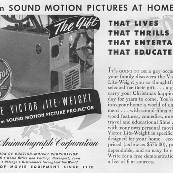 1948 - Victor Film Projector Advertisement - Advertising