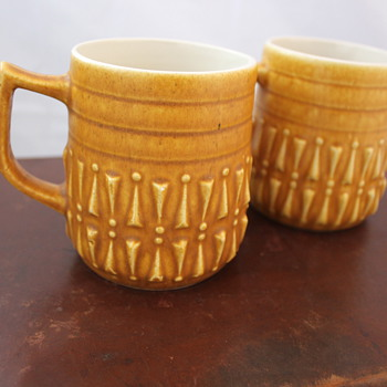 My favourite find. Lovely Relief ware mugs.