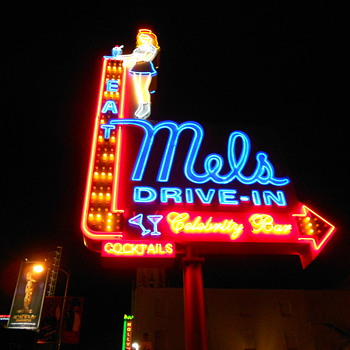 Old Neon on the Hollywood Strip