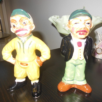 Vintage ceramic baseball figurines