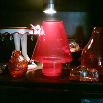 My red corner glass collection - Art Glass