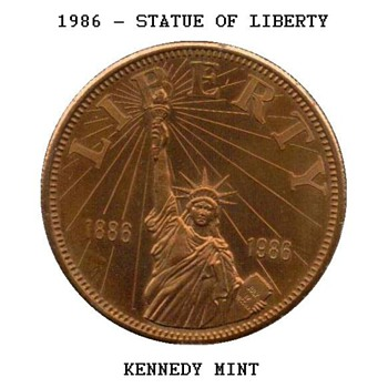 1986 - Statue of Liberty Medal