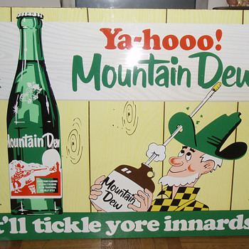 Mountain Dew Soda Sign - Advertising