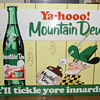 Mountain Dew Soda Sign