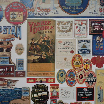 Vintage Assorted Labels Collectable