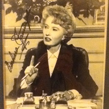 Barbara Stanwyck Autographed Still