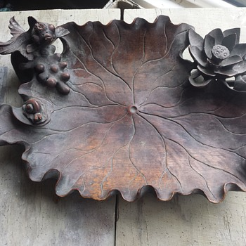 Chinese Wooden Dish - Asian