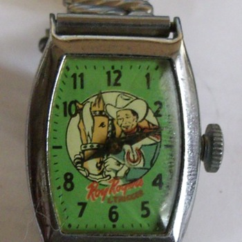 1956 Roy Rogers Wristwatch with Facsimile Autographed Bracelet - Wristwatches