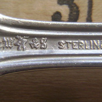 Sterling Berry Spoon?  Need help identifyng mark - Sterling Silver